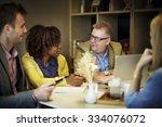business people meeting... | Shutterstock . vector #334076072