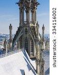 the basilica del voto nacional... | Shutterstock . vector #334116002