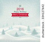 illustration christmas winter... | Shutterstock .eps vector #334127642