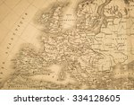 antique map of the world  the... | Shutterstock . vector #334128605