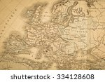 antique map of the world  the... | Shutterstock . vector #334128608