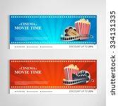 cinema movie poster template...   Shutterstock .eps vector #334131335