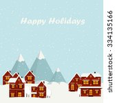 vector illustration winter... | Shutterstock .eps vector #334135166