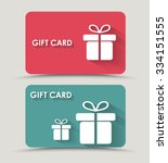 design gift card with a box in... | Shutterstock .eps vector #334151555