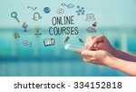 online courses concept with... | Shutterstock . vector #334152818