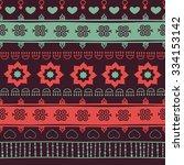 tribal seamless pattern  | Shutterstock . vector #334153142
