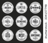 collection of silver labels and ... | Shutterstock .eps vector #334157798