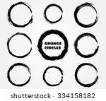grunge circles. grunge round... | Shutterstock .eps vector #334158182
