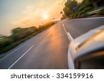 sunset urban highway | Shutterstock . vector #334159916