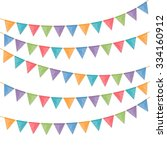 bunting flags on white... | Shutterstock .eps vector #334160912