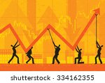 maintaining profits businessmen ... | Shutterstock .eps vector #334162355
