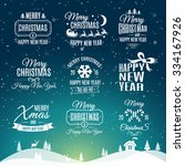 christmas labels elements... | Shutterstock .eps vector #334167926