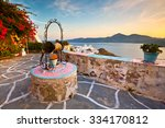 old well in plaka village on...   Shutterstock . vector #334170812