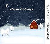 vector illustration winter... | Shutterstock .eps vector #334174772