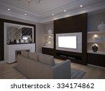 3d illusrtation of tv unit with ... | Shutterstock . vector #334174862