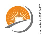 sun and light logo. | Shutterstock .eps vector #334176176