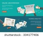 flat design modern vector... | Shutterstock .eps vector #334177406