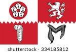 vector flag of leicestershire... | Shutterstock .eps vector #334185812