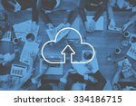 cloud computing storage... | Shutterstock . vector #334186715