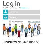 casual people account login...   Shutterstock . vector #334186772