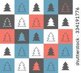 christmas background   seamless ...   Shutterstock .eps vector #334191776