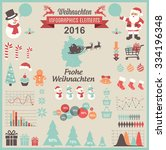 christmas infographic elements  ... | Shutterstock .eps vector #334196348