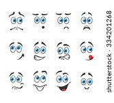 different funny emotions with...   Shutterstock .eps vector #334201268