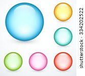 set of colored balls | Shutterstock .eps vector #334202522