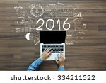 2016 new year business success  ... | Shutterstock . vector #334211522