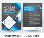 abstract vector modern flyers... | Shutterstock .eps vector #334214855