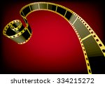 vector film strip 3d  gold  | Shutterstock .eps vector #334215272