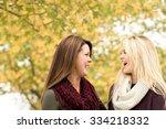 mother and teenage daughter. | Shutterstock . vector #334218332