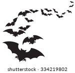 flock of bats  | Shutterstock .eps vector #334219802