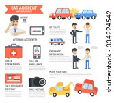 car accident on the road...   Shutterstock .eps vector #334224542