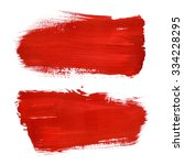red abstract stroke. colorful... | Shutterstock . vector #334228295