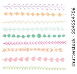 hand drawn border vector set | Shutterstock .eps vector #334234706