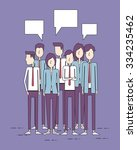 group people business and... | Shutterstock .eps vector #334235462