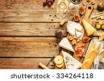 different kinds of cheeses ... | Shutterstock . vector #334264118