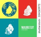 mauritius grunge retro maps  ... | Shutterstock .eps vector #334265972