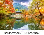 baekyangsa temple in autumn... | Shutterstock . vector #334267052