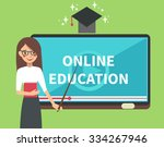 vector online education... | Shutterstock .eps vector #334267946