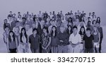 diversity large group of people ... | Shutterstock . vector #334270715