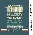 veterans day poster. us... | Shutterstock .eps vector #334270982
