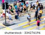 busy pedestrian crossing at... | Shutterstock . vector #334276196