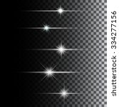 glowing lights and stars.... | Shutterstock .eps vector #334277156