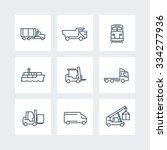 transportation  thin line icons ... | Shutterstock .eps vector #334277936