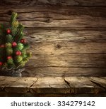 christmas background. empty... | Shutterstock . vector #334279142
