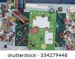 a horizontal overhead view of a ... | Shutterstock . vector #334279448