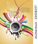 grunge music background .see my ...   Shutterstock .eps vector #33428257