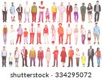 group multiethnic diverse mixed ... | Shutterstock . vector #334295072
